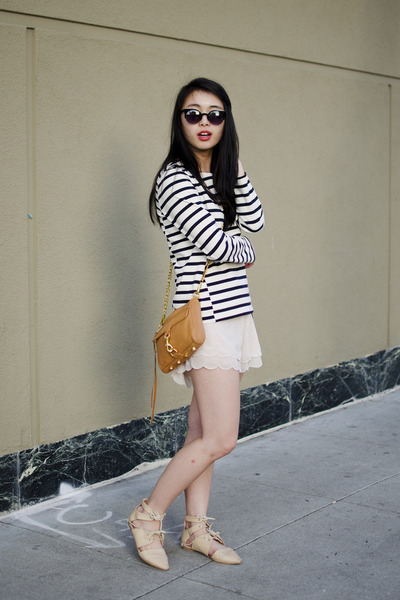 Rebecca Minkoff purse - H&M shorts - JCrew top