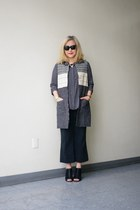 black rayon ls Rose Moon shirt - long line Sanctuary vest - Silence  Noise pants