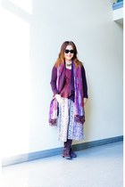willi smith cardigan - sam edelman boots - Lucky Brand scarf - willi smith top