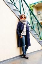 Zara boots - Zara coat - Zara jeans - Fratelli Talli hat - Zara scarf