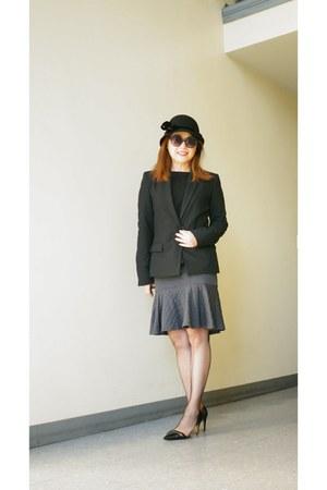 Zara sweater - Zara blazer - David Lerner skirt - black Zara heels