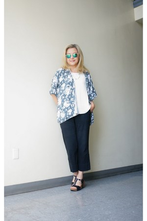 MINE top - mirror lans Urban Outfitters sunglasses - Silence  Noise pants