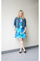 denim jou jou jacket - CeCe by Cythia Steffe dress - Sperry Top Sider sunglasses
