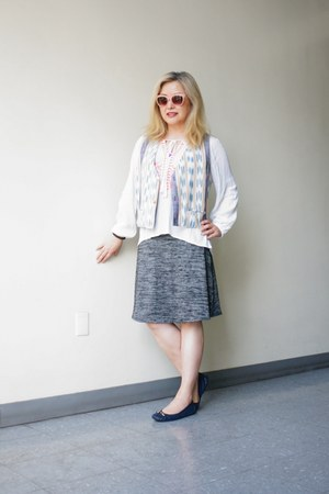 Dakini skirt - Versace 1969 sunglasses - linen thrifted vest