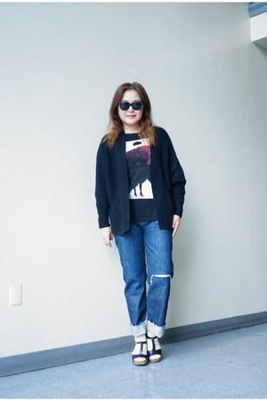 selvedge BDG black label jeans - gold Urban Outfitters socks - Zara t-shirt