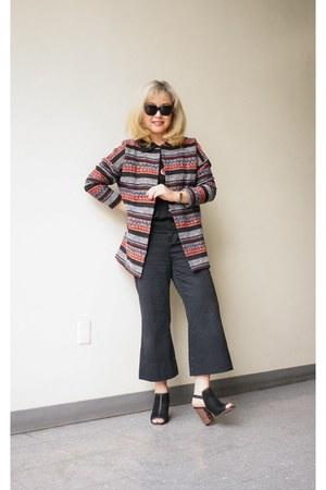 brocade car Elodie coat - HIP shirt - black frame Missoni sunglasses