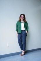 cream shell Zara top - Urban Renewal jacket