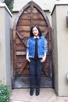 suede ankle sam edelman boots - ankle Zara jeans - denim BDG jacket