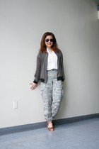 Zara jacket - Just Living shirt - aviator tommy bahama sunglasses