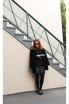 black velvet Express blazer - Zara boots - BCBG sweater
