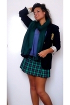 blazer - skirt - scarf - top