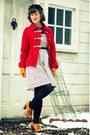 Ivory-raffine-boutique-dress-red-wool-tulle-coat-navy-vintage-hat