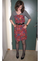 vintage skirt - tights - shoes