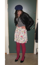 2nd Hand skirt - borrowed jacket - shoes