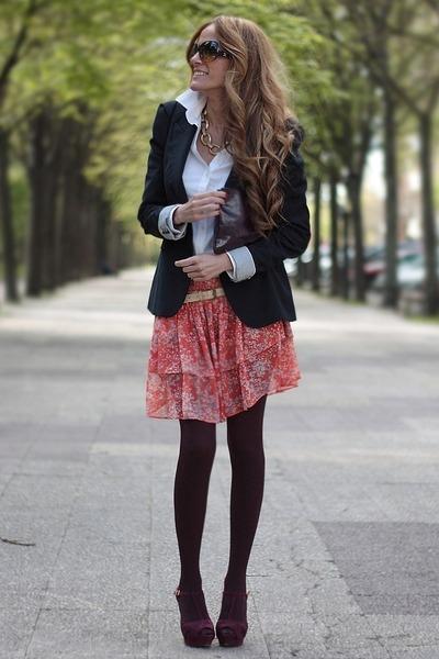 Zara skirt - Zara blazer - Accesorize bag