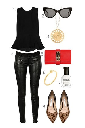 Gorjana necklace - Vince Camuto purse - Linda Farrow for The Row sunglasses