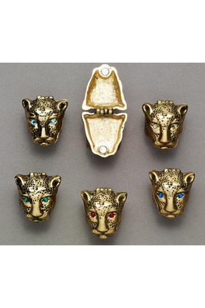 panther head Red Freckles ring