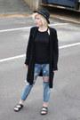 Blue-one-teaspoon-jeans-black-fedora-asos-hat-black-birkenstock-sandals