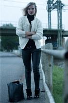 off white Nowhere jacket - black COS shirt - black Zara bag - black Pimkie pants