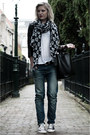 Blue-the-sting-jeans-black-h-m-jacket-black-invito-scarf-black-zara-bag