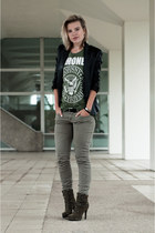 army green InVito boots - black Mango jacket - olive green the Sting pants