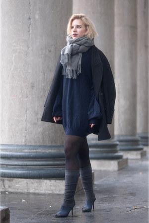 navy Maison Martin Margiela for H&M sweater - black cocoon asos coat