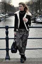 black COS top - black Shoeby Fashion boots