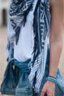 Sky-blue-pepe-jeans-jacket-blue-zara-scarf-teal-zara-shorts