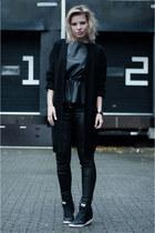 black OnePiece cardigan - black Coolcat pants - black H&M Trend top