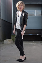 ivory Rut&Circle shirt - black Zara jeans - black Mango jacket