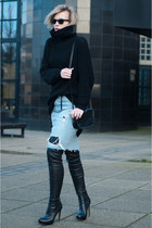 black Anna Dello Russo for H&M boots - black Issue 13 sweater