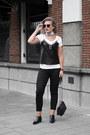 Black-kendallkylie-boots-white-asos-scarf-black-zara-bag