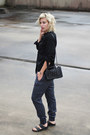Black-oversized-asos-shirt-black-birkenstock-sandals-navy-asos-pants