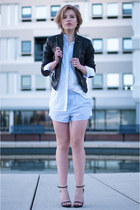 black BlueGold jacket - white Zara shirt - sky blue H&M shorts