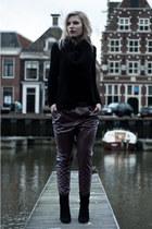 H&M sweater - Mango boots - H&M Trend pants