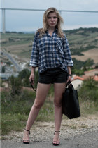 blue Episode shirt - black Zara bag - black Episode shorts