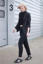 black suit jacket asos blazer - black Mango pants - black asos top