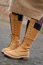 Mustard-lace-up-14-inch-timberland-boots-tan-asos-dress