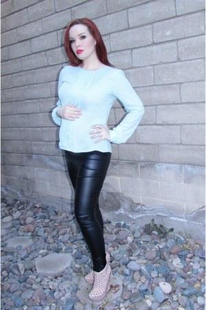 asos leggings - maternity aqua Forever 21 blouse