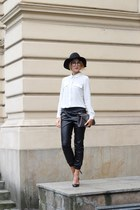 black H&M hat - white Mango shirt - charcoal gray Mohito bag