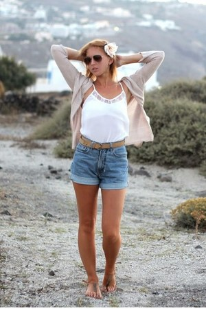 Esprit shorts - Zara sunglasses - H&M hair accessory - hm cardigan