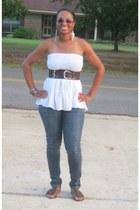 dark brown buckle rue21 belt - blue skinny rue21 jeans