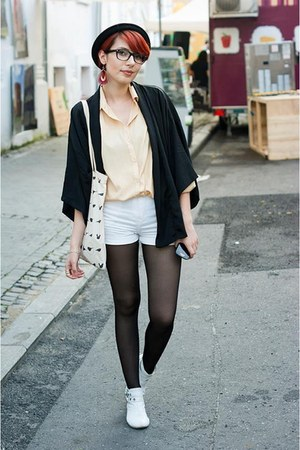 white new look boots - black H&M blazer