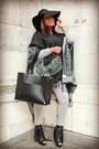 Heather-gray-topshop-jeans-black-zara-bag-black-new-look-cape