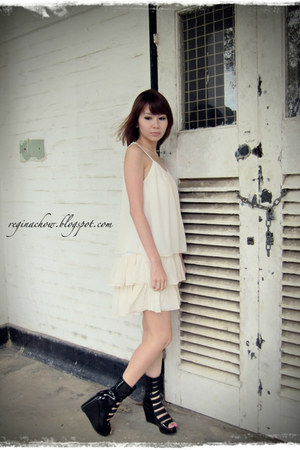 off white chiffon ClubCouture dress