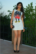 white Maykool dress - black Christian Louboutin heels