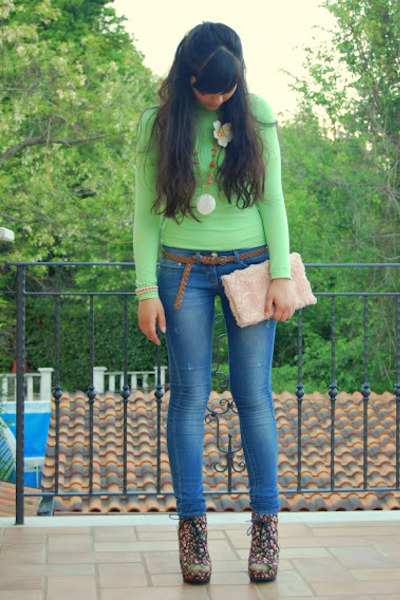 Blowfish shoes - celyn b jeans - H&M bag - top