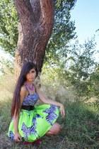 chartreuse sammydress skirt