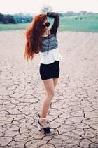 black sammydress dress - white JollyChic heels