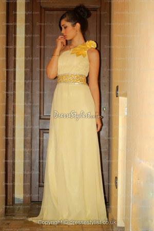 light yellow DresseStylist dress